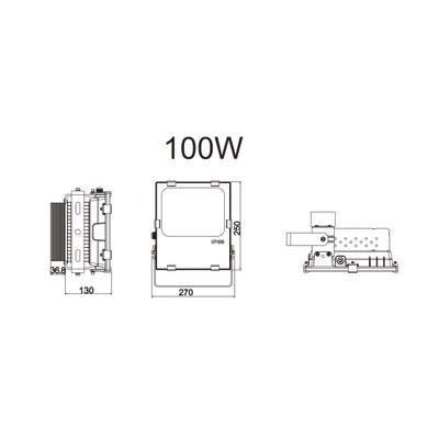 100w led au enstrahler 5000k neutralwei osram leds 119. Black Bedroom Furniture Sets. Home Design Ideas